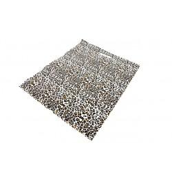 Bolsas de plástico asa troquelada estampado leopardo 35x45cm