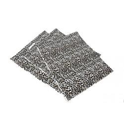 Bolsas de plástico con asa troquelada estampado leopardo 35x45cm