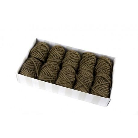 Ovillo de cuerda rústica marrón 10 metros