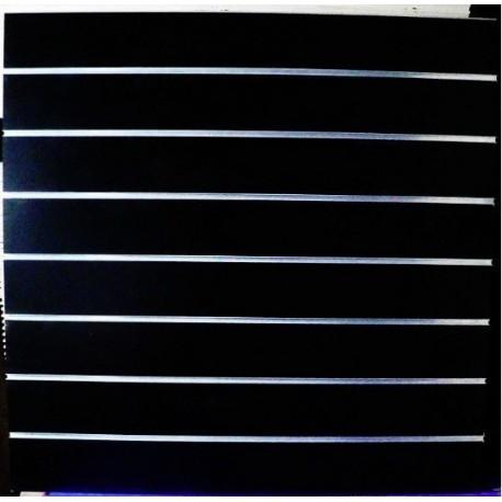 PANEL DE LAMAS COLOR NEGRO BRILLO 9 GUIAS 120X120 CM