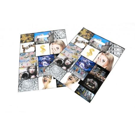 Bolsas de plástico asa troquelada fotos color 25x35cm