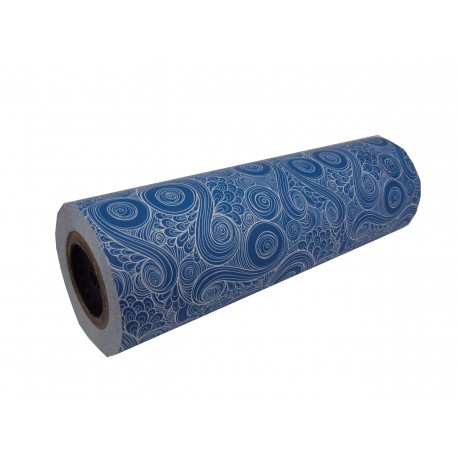 Papel de regalo estampado azul