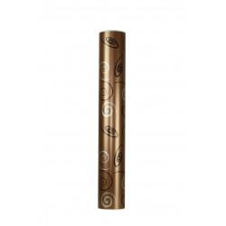 Papel de regalo estampado metálico fondo marrón 62cm