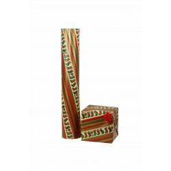 Papel de regalo estampado motivos navideños botas 62cm