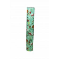 Papel de regalo estampado motivos navideños fondo verde claro 62cm