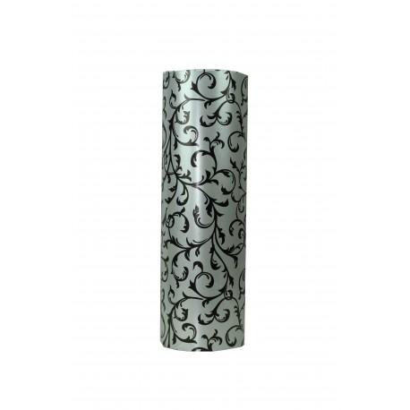 Papel de regalo estampado plata fondo negro 31cm
