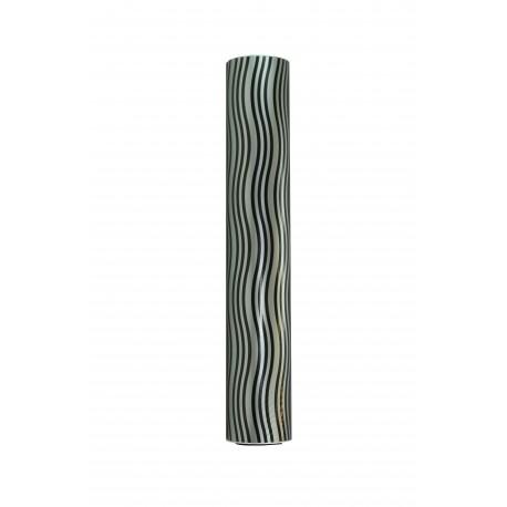 Papel de regalo estampado ondas negras fondo plata 62cm