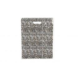Bolsas de plástico asa troquelada estampado leopardo 50x60cm