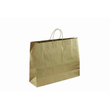 Bolsa de papel kraft asa rizada tostado 43x16x54cm