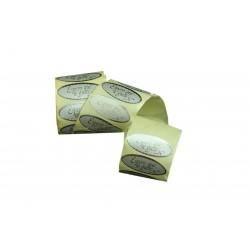 Etiquetas adhesivas para regalos mensaje espero que te guste plata