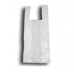 Bolsas de plástico camiseta blanco 60x40cm