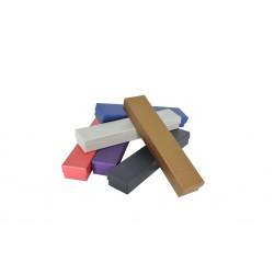 Cajas para joyas cartón varios colores metalizados 23.5x4.5x3cm