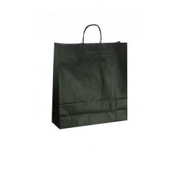 Bolsa de papel celulosa asa rizada negro 22x10x29cm