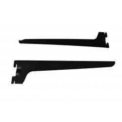 Soporte simple de estante para sistema de cremallera color negro 35cm