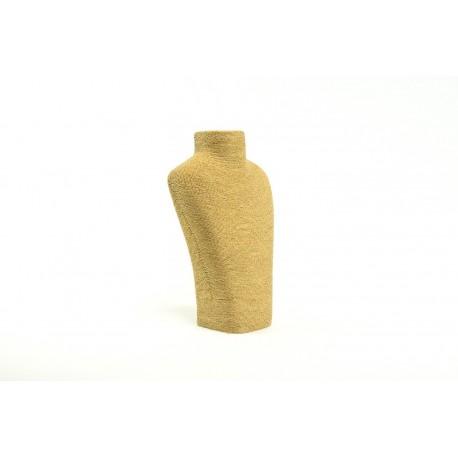 Expositor de collares revestido de cuerda color havana