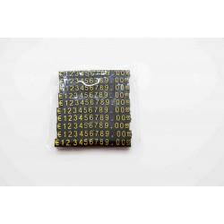 Precios para joyeria de plastico negro con numeros color oro