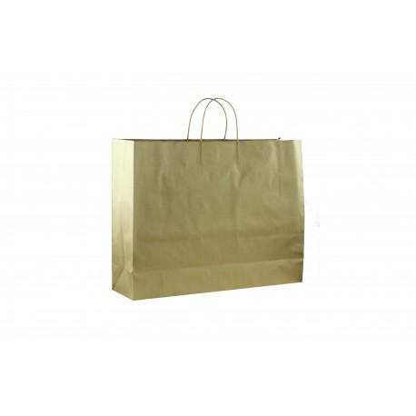 Bolsa de papel con asa cordón dorado 35x30x13cm