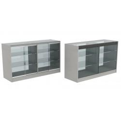 Mostrador vitrina en color gris 150 cm