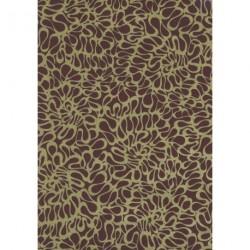 Papel para regalo estampado dorado fondo marrón 62cm