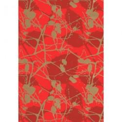 Papel para regalo estampado ramas rojo 62cm
