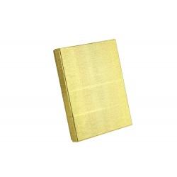 Cajita para joyeria color plata y dorado 21x16x3 cm 2 und