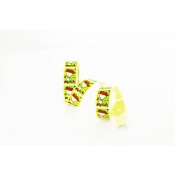 Etiquetas adhesivas para regalos mensaje solo para ti estampado ramo
