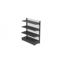 Estantería metalica gris con malla 1 cara 120x150cm