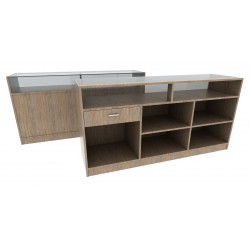 MOSTRADOR COLOR OAK CLARO,180CM