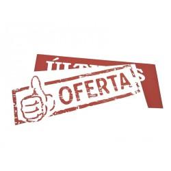 CARTEL DE OFERTA TOJO Y BLANCO 100X35 CM
