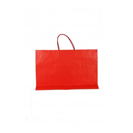 Bolsa de papel celulosa asa cordón rojo 33x45x15cm