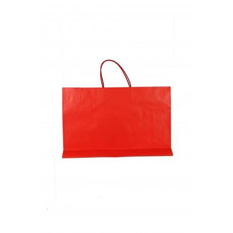 Bolsa de papel con asa cordón rojo 33x45x15cm