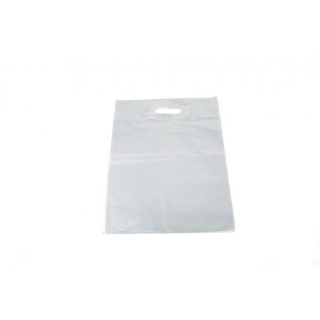 Bolsas de plástico asa troquelada plata 35x45cm