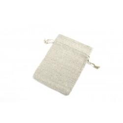 Bolsa de lino beige 16x12cm