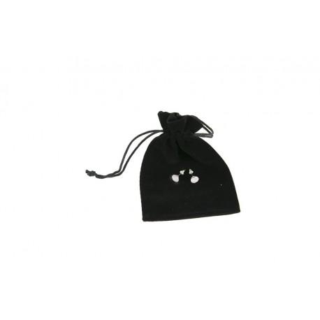 Bolsas de terciopelo negro 12x9cm