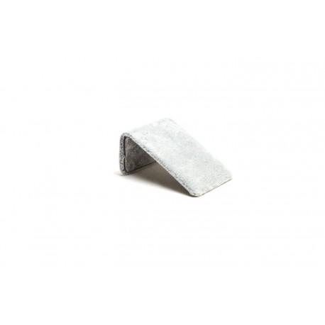 Expositor para pendientes en terciopelo gris 7x5x3 cm