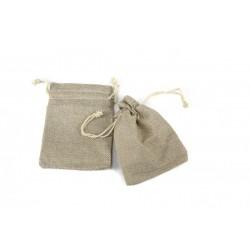 Bolsas de tela grueso para joyeria con cordon 12x9cm