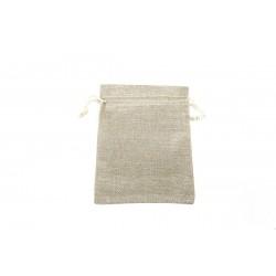 Bolsas de tela grueso para joyeria con cordon 18x14cm