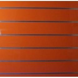 PANEL DE LAMAS COLOR NARANJA BRILLO 7 GUIAS 120X120 CM