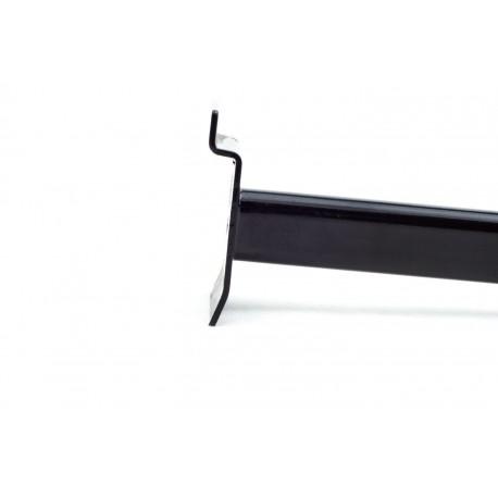 Golgador recto negro para panel de lama 40cm