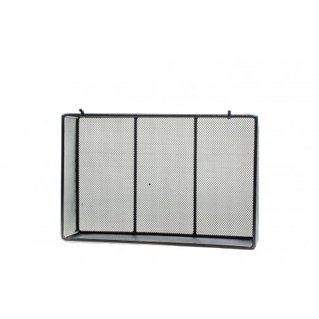 Cesta de acero negra para panel de lamas 23x15x6cm