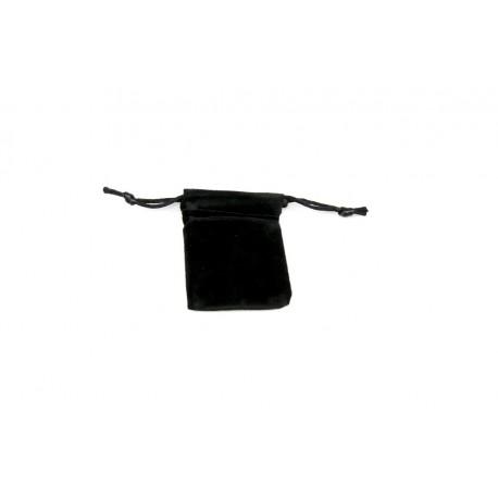Bolsas de terciopelo negro para joyeria con cordon 5x6.5 cm