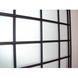 Malla expositora negra de doble margen 60x150 cm