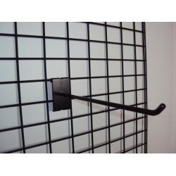 Malla expositora negra de doble margen 90x180 cm