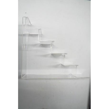 Expositor acrilico de monederos 5 alturas 33x31.5 cm