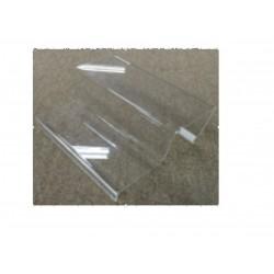 Expositor acrilico para complementos 2 alturas 14x25 cm