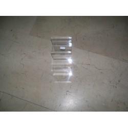 Expositor acrilico transparente en escalera a 3 alturas 20x10 cm
