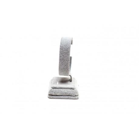 Expositor de reloj en terciopelo gris