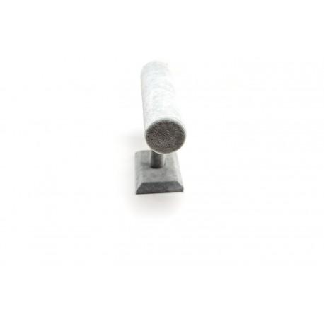 Expositor de pulseras forma T en terciopelo gris
