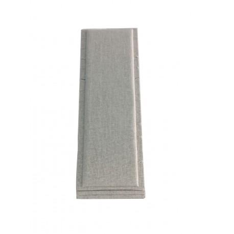 Expositor de pulseras vertical en lino beige 10x27 cm