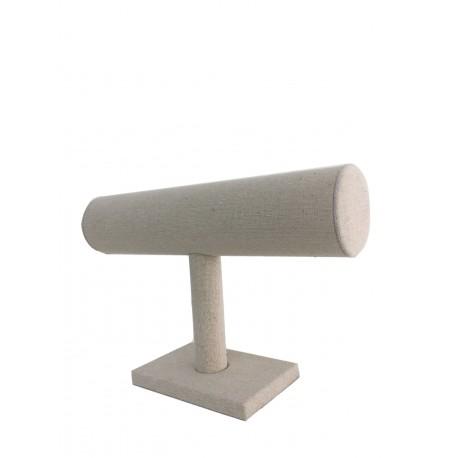 Expositor para pulseras en lino beige 22.5x14.5cm